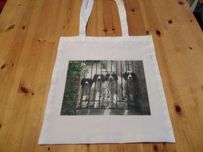 Picture of Springers at the gate shopping bag