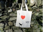 Picture of I love my Labrador shopping bag