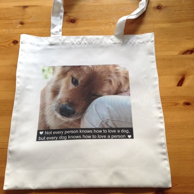 Picture of Dogs love shopping bag