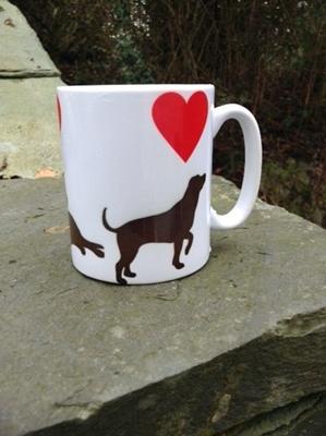Picture of Valentine Labrador Mug
