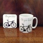 Picture of Bike Mug and Coaster set