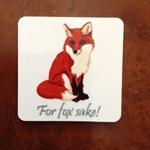 Picture of For fox sake fridge magnet