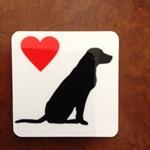 Picture of Labrador love fridge magnet