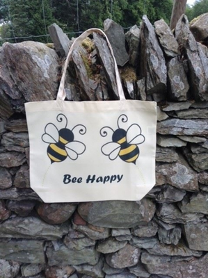Picture of Bee happy shopping bag