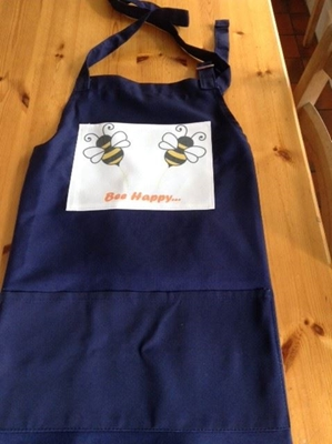 Picture of Bee happy cotton apron