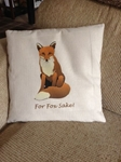Picture of For fox sake cushion cover