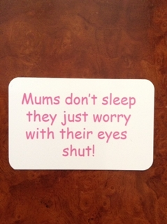 Picture of Mums worry fridge magnet