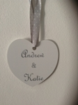 Picture of Heart personalised wedding favour