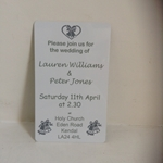 Picture of Metal wedding invitation
