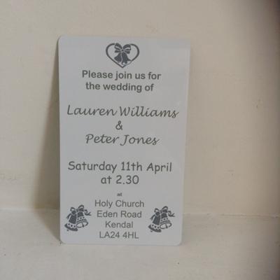 Picture of Metal wedding invitation