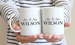 Picture of Wedding mugs bride and groom (Pair)