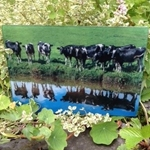 Picture of Cows reflection worktop protector