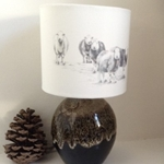 Picture of Herdwick sheep lampshade